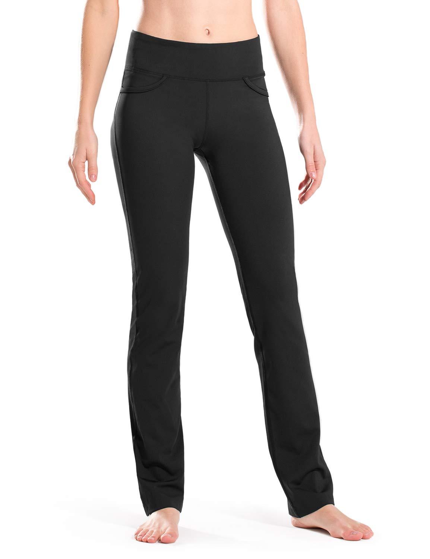 "Safort 28"" 30"" 32"" 34"" Inseam Regular Tall Straight Leg Yoga Pants, Workout Pants"
