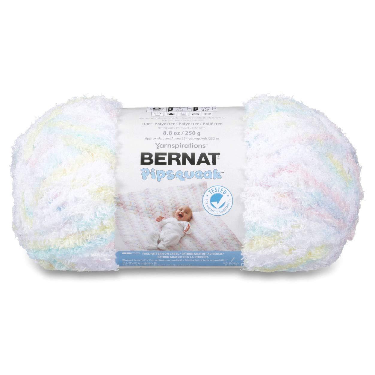Bernat Pipsqueak Big Ball Yarn, 8.8 oz, Gauge 5 Bulky, Baby Baby Print