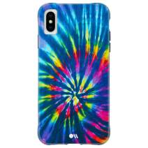 "Case-Mate - iPhone Xs Max Case - TIE DYE - Opaque Color Design - iPhone 6.5"" - DIY Rainbow"