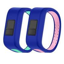 HMJ Band Compatible with Garmin Vivofit JR Bands,Soft Kids Wristbands Replacement for Vivofit JR/Vivofit JR 2/Vivofit 3 Tracker(Large,Small)