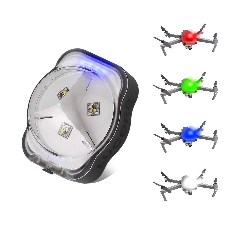 LUCORB Drone Strobe Lights, FAA Anti-Collision Lights for Drone Night Flight, 4 Colors Drone Led Strobe with Battery Indicators for DJI FPV, Mini, Mavic Air 2, Mavic 2 Pro, Phantom, Matrice, Mavic 2 Zoom
