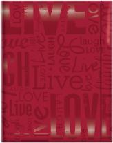 MCS 100 Pocket Big Max Embossed Live Laugh Love Album, Red (823358)