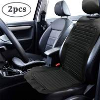 Big Ant Car Seat Cushion, Ultra Comfort Leatherette Front Seat Cushions Anti-Slip Driver Seat Covers with Backrest Bottom Protectors Pad for 95% Vehicles Sedan SUV Truck Van MPV(1 Pair - Black)