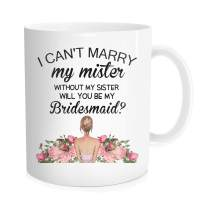 Hasdon-Hill Funny Coffee Mug Will You Be My, Bridesmaid Proposal, Maid Of Honor, Maid Of Honor, Be My Maid Of Honor, Coffee Mug, Matorn Of Honor, Bridal Party, 11 OZ White