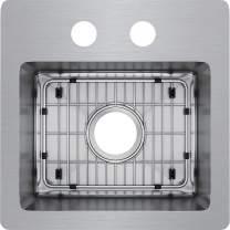Elkay ECTSR15159TBG2 Crosstown Single Bowl Dual Mount Stainless Steel Bar Sink Kit