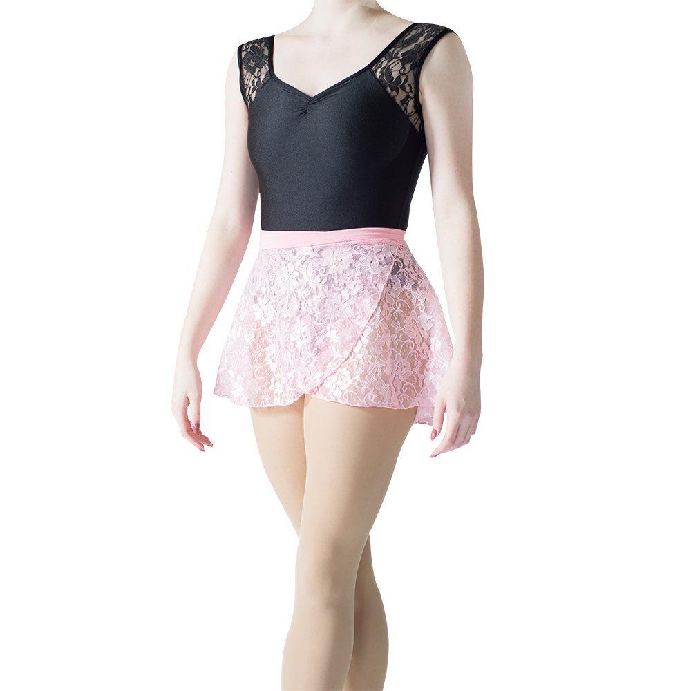 HDW DANCE Lace Dance Wrap Skirts for Women and Kids Cotton Waistband