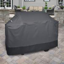 """Griller's Guard Waterproof BBQ Grill Cover for Heavy Duty Outdoor Use - Cover Your Barbecue Grill Year Round - Winter Summer - Complete Protection 42"""" x 58"""" x 24"""" (Gray)"""