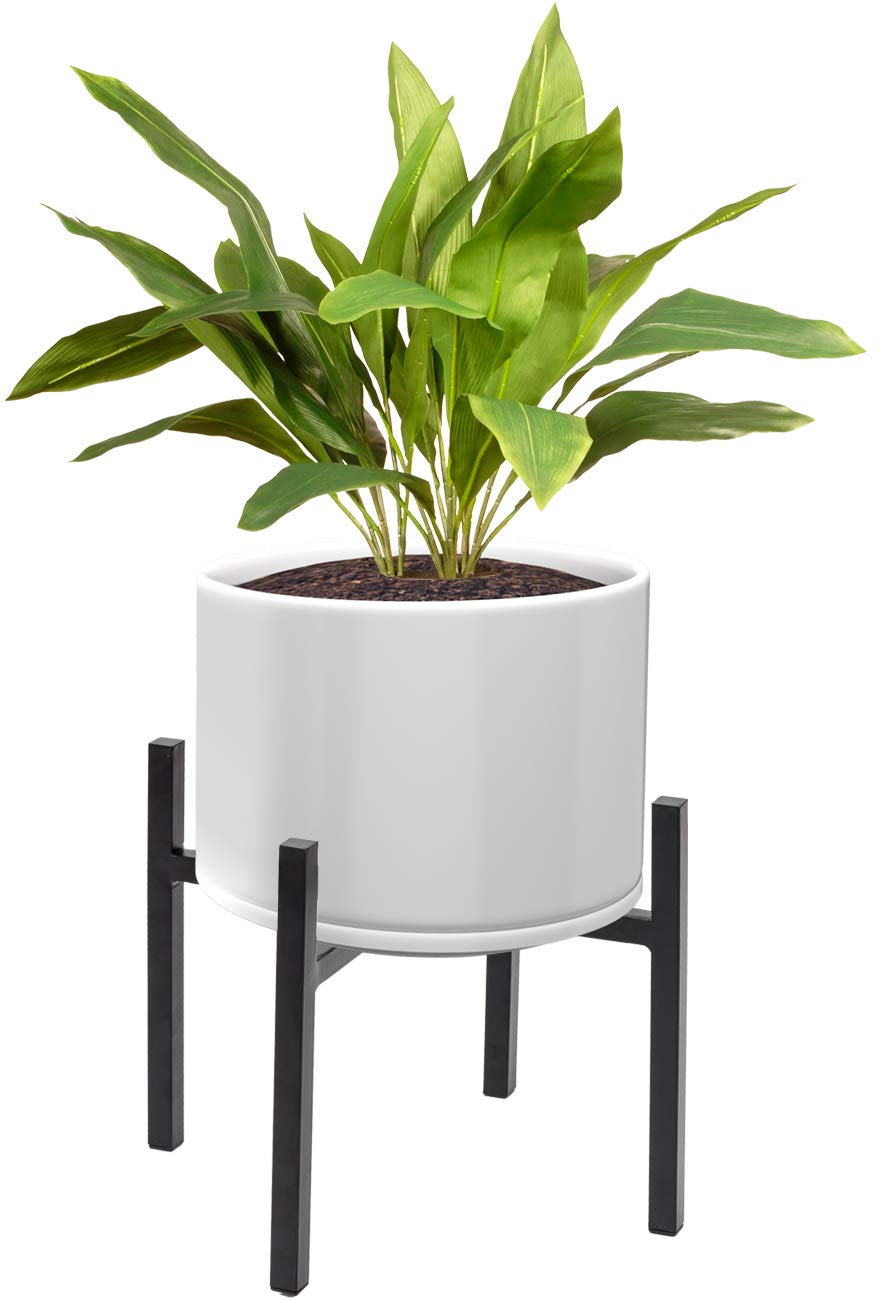 Sorbus Plant Stand Mid Century Style Flower Pot Holder, Planter, Modern Home Décor for Houseplants, Plant & Pot NOT Included, Black (14 inch)