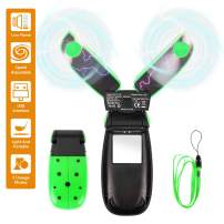 SeoJack Handheld Fan,Personal Mini USB Portable Fan with Beetle Appearance, Foldable Hanging Desk Fan for Kids Girls Woman Man Home Office Outdoor Travel,Green