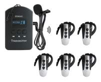 EXMAX 2.4GHz Wireless Language Interpretation Tour Guide System for Guided tours of Museums,Training,Conferences and Trade Shows(1 Transmitter 5 Receivers)