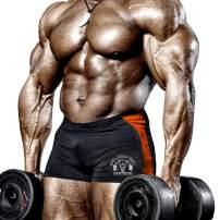 palglg Men's Bodybuilding Posing Trunks Spandex and Lycra Shorts