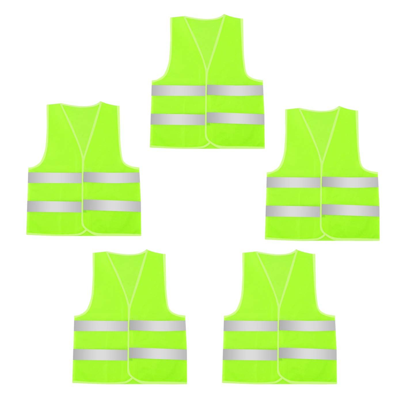 AIEOE 5 Pack/ 10 Pack Reflective Safety Vest High Visibility for Construction Work