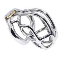 YiFeng Stainless Steel Male Chastity Cage Device Belt (50mm Ring) 193