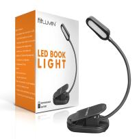 Fitlumin LED Book Light - Reading Lights for Books in Bed – 3000K Warm LED Reading Light for Eye Care, Slim & Rechargeable – Best Book Light for Reading in Bed at Night, Perfect for Bookworms & Kids