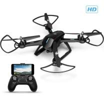 Amcrest A6-B Skyview Pro RC WiFi Drone with Camera HD FPV Quadcopter Video Drone with Camera for Adults, 2.4ghz WiFi Helicopter w/Remote Control, Stunt Flip, Headless Mode, Smartphone (Black)