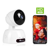 WiFi Home Security Camera, 1080p Baby Monitor Indoor, Pan Tilt Zoom IP Camera with Phone APP, Pet/Dog/Nanny/Baby Camera with Night Vision, 2-Way Audio, Motion Detection,Alexa