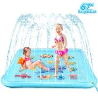 """EpochAir Splash Pad - 67"""" Sprinkler for Kids, Inflatable Wading Pool Outdoor Water Toys Summer Fun Game, Perfect Swimming Pool Toy for Babies and Toddlers"""