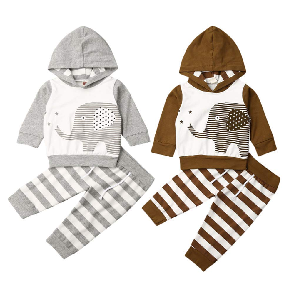 Cute Toddler Baby Boy Camouflage Clothes Long Sleeve Funny Print Letter Hooded Tops+ Elastic Pants Camo Suits Outfits Sets