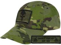 Gadsden and Culpeper Operator Cap Bundle - w Punisher/Dont Tread Patches -Choose Color
