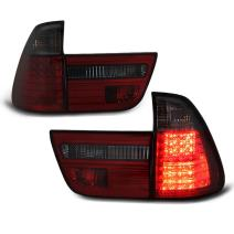 VIPMOTOZ Smoke Red Lens Premium LED Tail Light Housing Lamp Assembly For 2000-2006 BMW E53 X5 Driver and Passenger Side Replacement