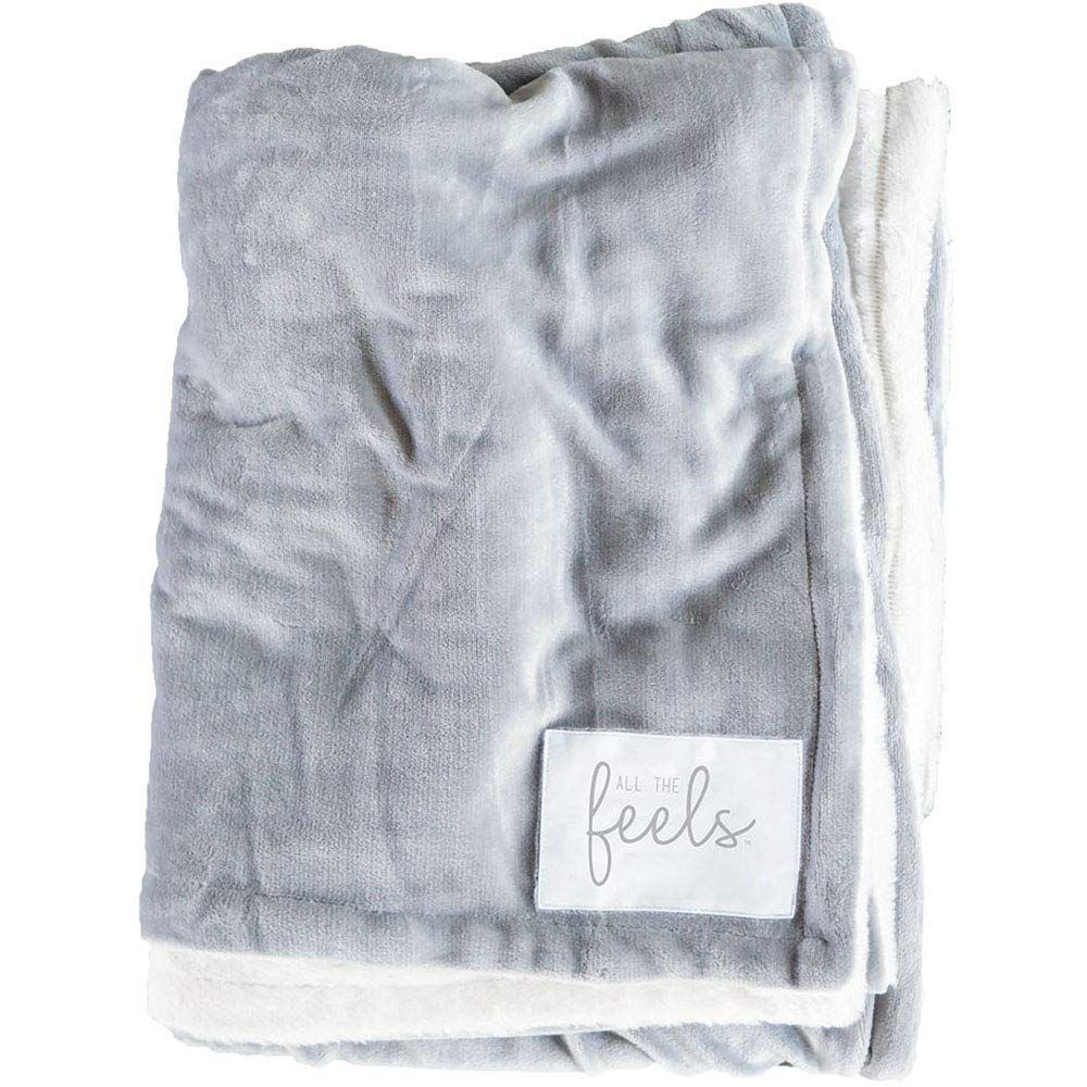 All the Feels Premium Reversible Blanket, Throw, 50x60, Ash Grey Throw Blanket, Super Soft Cozy Blanket