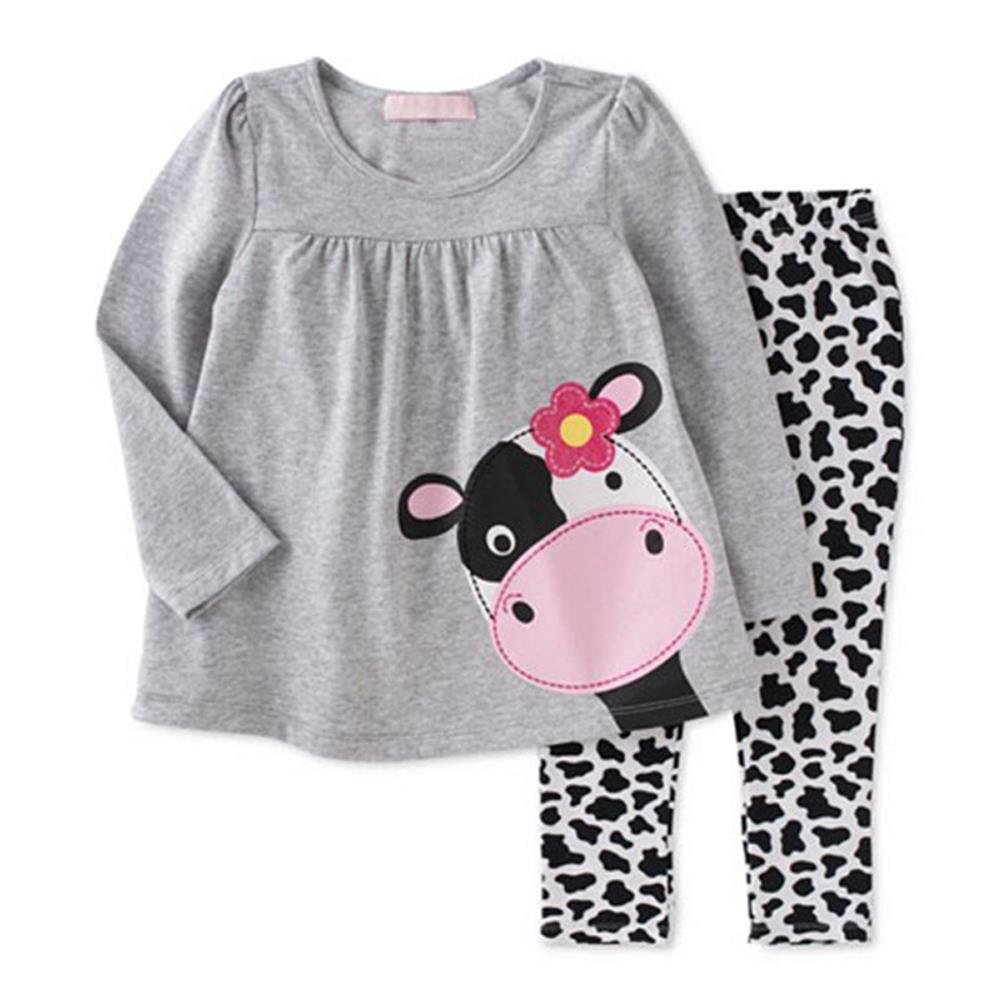 Coralup Toddler Boys Girls Unisex Long Sleeve Cotton 2PCS Clothing Sets