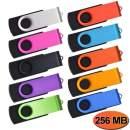 Thumb Drive 50 Pack 256MB Flash Drive Bulk Multipack USB 2.0 256 MB Memory Stick Kepmem Metal Pen Drives Multi Colors Jump Drive Portable Zip Drive Swivel U Disk as Client Item