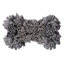 MY-PETS Snuffle Mat for Dogs and Puppies, Dog Feeding Mat for Smell Training, Anti Slip Sniffing Pad, Pet Activity Mat Foraging Blankets Dog Toys for Boredom Release (Bone/Round/Square/Bowl)