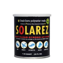 Solarez UV Dual Cure Low-VOC Clear Polyester Resin (Quart) ~ Clear Laminating Resin - No Waiting! for Custom Woodworking, Surfboards, Marine, Auto, Hobby ~ Eco-Friendly ~ Made in The USA