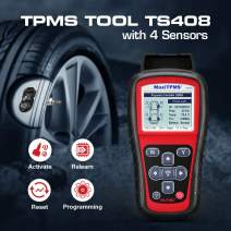 Autel TPMS Relearn Tool TS408, Upgraded Version of TS401, Plus TPMS Programmable 4 MX-Sensors 2 in 1 (315MHz + 433MHz), for TPMS Reset, Sensor Activation, Program, Key Fob Testing, Lifetime Update