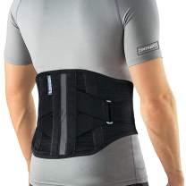T TIMTAKBO Lower Back Brace W/Removable Lumbar Pad for Men Women Herniated Disc,Sciatica,Scoliosis,Waist Pain, Lumbar Support Belt (Black/Gray, Plus Size 2XL)