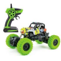 RC Cars for Boys Age 4-7 Kids Toy Trucks 1:18 Scale 2.4GHz Radio Remote Control Car Off Road Vehicle with USB Charger (Green)