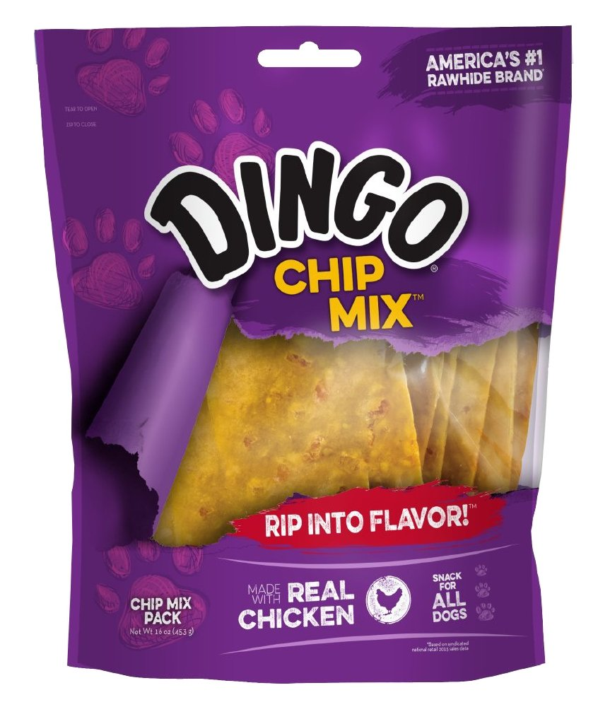 Dingo Chip Mix Snack For All Dogs, Real Chicken Flavor