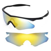 Walleva Replacement Lenses or Lenses with Black Nosepad for Oakley M Frame Heater - 40 Options Available
