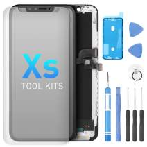 Screen Replacement for iPhone Xs 5.8 Inch, Digitizer Assembly 3D Touch Replacement Screen with Waterproof Frame Adhesive Sticker, Repair Tool Kits and Tempered Glass Protector