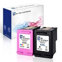 BJ Remanufactured Ink Cartridge Replacement for HP 63XL Combo Pack (1 Black 1 Color) for HP DeskJet 1112 2130 2133 3630 3632 HP ENVY 4512 4516 4520 HP OfficeJet 3830 3832 4650 4655 5255 5258