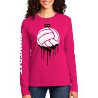 GIMMEDAT Volleyball Paint Long Sleeve Shirt Women Girl Player Fan Gift