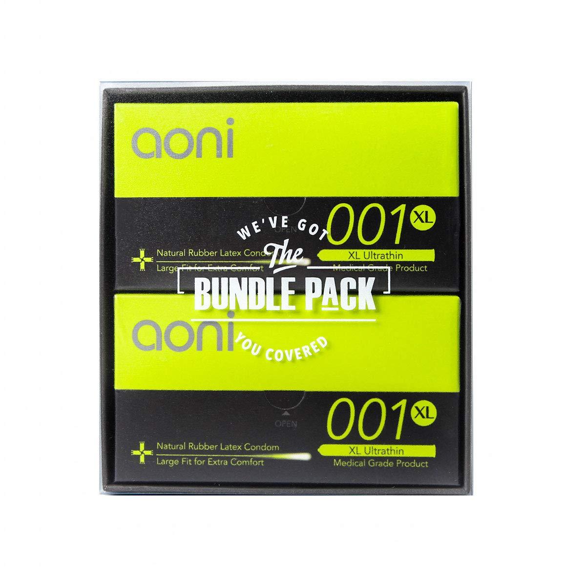 Aoni Condoms Value Pack - XL Ultrathin 001 24 PCS Bundle Pack - Premium 001 Series - Water Based Lubricant