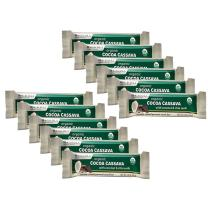 Dr. Mercola, Organic Cocoa Cassava with Coconut and Chia Seeds, 1 Box (12 Bars), Chocolate-Coated Gourmet Snack Bar, Non GMO, Soy Free, Gluten Free, USDA Organic