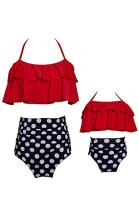 YMING Summer Cute Bikini Set Family Matching Swimwear Mommy and Me Swimsuit