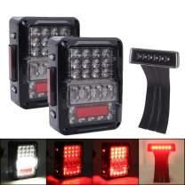 DOT Approved EMC 4D LED Tail Lights + Brake Light for Jeep Wrangler 2007-2018 JK JKU