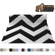 Gorilla Grip Original Smooth Top Slip-Resistant Drawer and Shelf Liner, Non Adhesive Roll, 20 Inch x 20 FT, Durable Kitchen Cabinet Shelves Liners for Kitchens Drawers and Desks, Chevron Black White