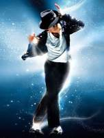 DIY 5D Diamond Painting by Number Kit,Crystal Rhinestone Diamond Embroidery Paintings Cross Stitch for Home Wall Michael Jackson in The Dance,11.8 X 15.7 Inch