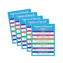 5 PACK: Figures of Speech Posters - Figurative Language Posters - Educational Language Arts Poster for Middle School and High School Classrooms - 17 x 22 in. - Laminated