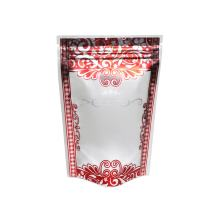 """100PCS Matte Red & Silver Border Royal Crown Flower Design Stand-Up Zip Seal Bags 14x20cm (5.5x7.8"""")"""