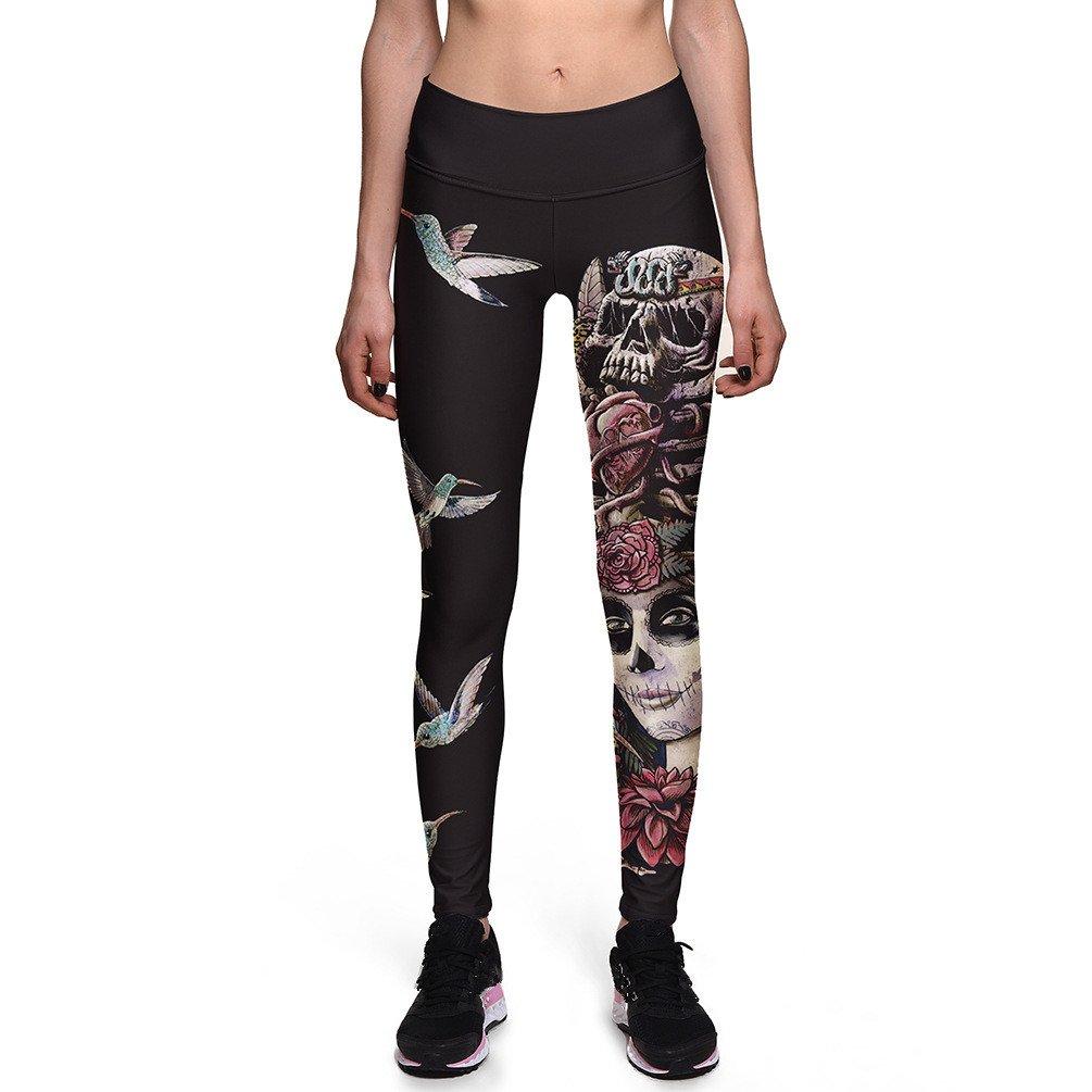 Fanii Quare Women's High Waist Ankle Leggings Digital Print Skinny Active Yoga Pants