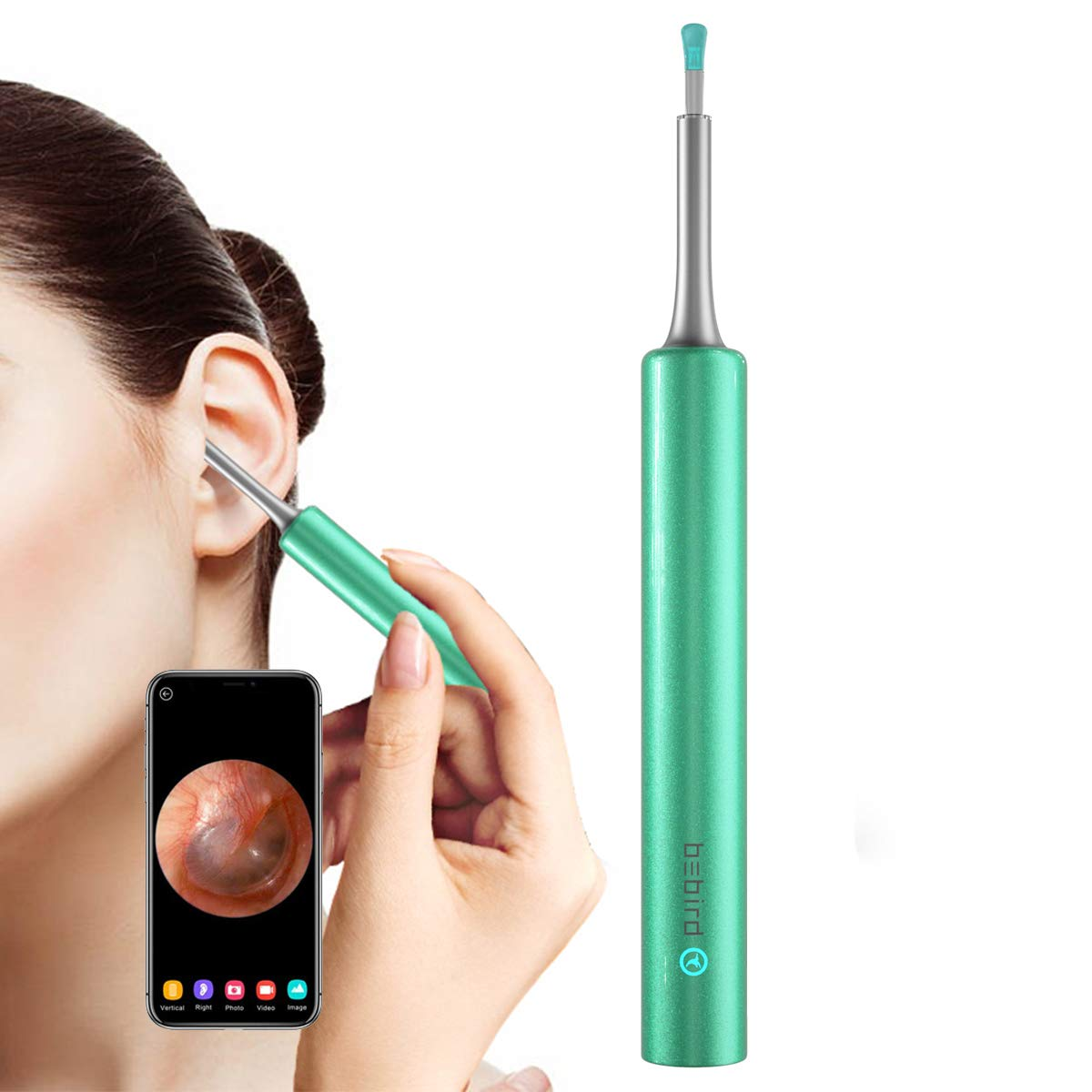 BEBIRD C3 Ear Cleaner, Ear Wax Removal Tool Wireless Otoscope with 1080P HD Waterproof Digital Endoscope with 6 LED Light, 3 Ear Cleaning Kits Mom Gadgetsfor Baby Ear CleanerChecking (Blue)