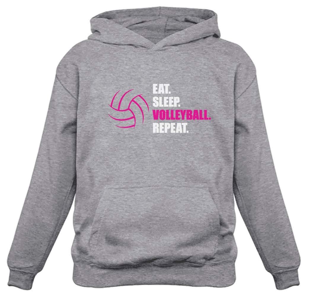 TeeStars - Eat Sleep Volleyball Repeat Women's Volleyball Gift Women Hoodie