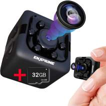 Spy Camera - Hidden Camera - Spy Camera Wireless Hidden- Nanny Cam Cop Cam - With 32 GB SD CARD Mini Cop Cam Action Cameras for Indoor or Outdoor, Home Office or Car Video Recorder HD and Night Vision