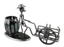 Fashion Funny Iron Art Gift Brush Pot Style Pen Pencil Holder (C184 Wheel Cart)